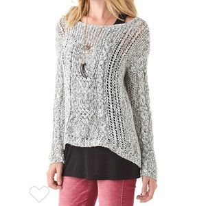 Free People Snow Heather Combo Cable Sweater